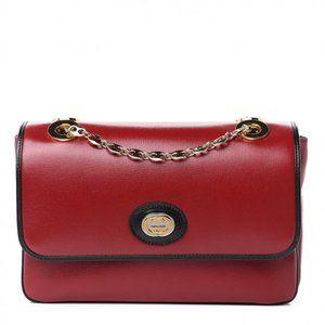 Gucci GG Motif Marina Shoulder Bag in Red